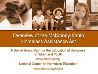 Overview of the McKinney-Vento Homeless Assistance Act