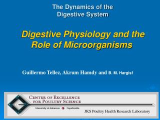 The Dynamics of the  Digestive System Digestive Physiology and the Role of Microorganisms