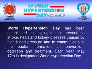 Download World Hypertension Day 2009 Powerpoint Presentation PPT