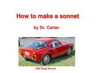 How to make a sonnet