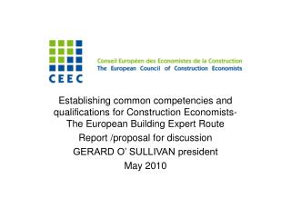 Content Why project on competencies ? Why the AEC document as basis? Progress to date
