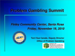 Problem Gambling Summit