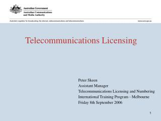 Telecommunications Licensing