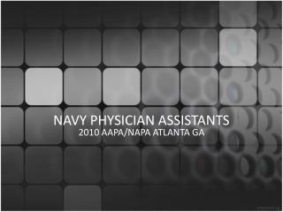 NAVY PHYSICIAN ASSISTANTS