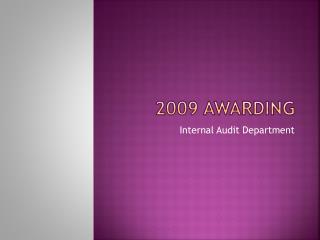 2009 awarding
