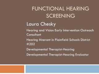 Functional Hearing Screening