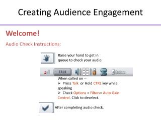 Creating Audience Engagement