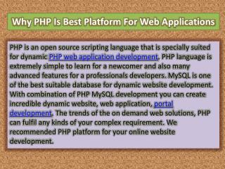 Why PHP Is Best Platform For Web Applications