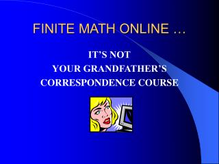 FINITE MATH ONLINE …