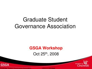 Graduate Student Governance Association
