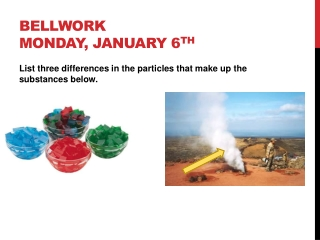 Bellwork Monday, January 6 th