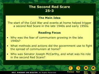 The Second Red Scare 25-3