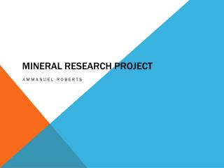 Mineral research project