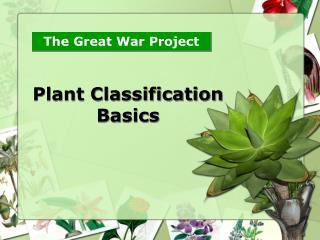 Plant Classification Basics