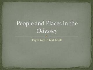 People and Places in the  Odyssey