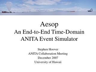 Aesop An End-to-End Time-Domain ANITA Event Simulator