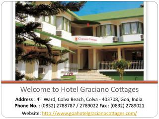 Hotel Graciano Cottages, budget hotels in Goa near beach
