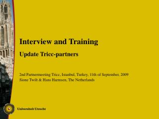 Interview and Training Update Tricc-partners