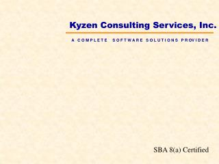 Kyzen Consulting Services, Inc.