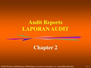 Audit Reports LAPORAN AUDIT
