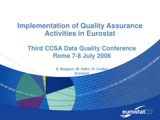 Implementation of Quality Assurance Activities in Eurostat