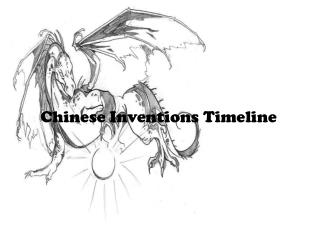 Chinese Inventions Timeline