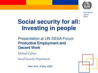 Social security for all: Investing in people