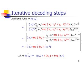 Iterative decoding steps