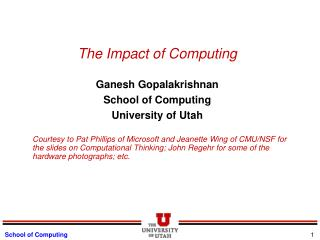 The Impact of Computing