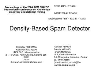 Density-Based Spam Detector