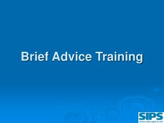 Brief Advice Training