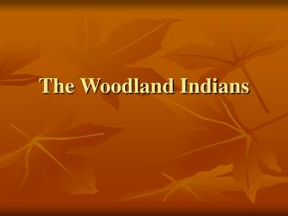 The Woodland Indians