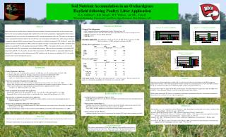 Soil Nutrient Accumulation in an Orchardgrass  Hayfield following Poultry Litter Application