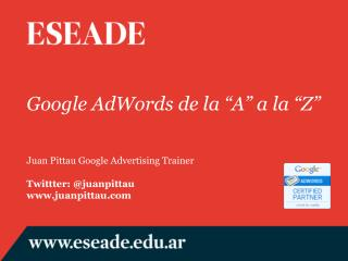 "Google AdWords de la ""A"" a la ""Z"""