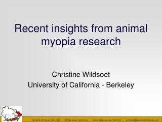 Recent insights from animal myopia research