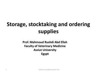 Storage, stocktaking and ordering supplies