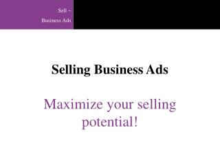 Selling Business Ads