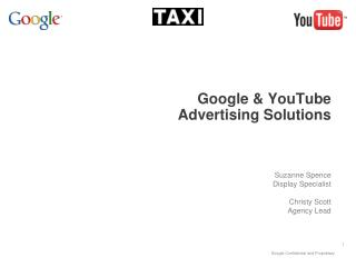 Google & YouTube  Advertising Solutions