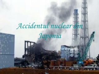 Accidentul nuclear din Japonia