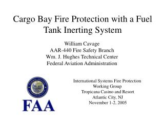 Cargo Bay Fire Protection with a Fuel Tank Inerting System