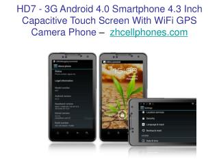 3G Android 4.0 Smartphone 4.3 Inch Capacitive Touch Screen W