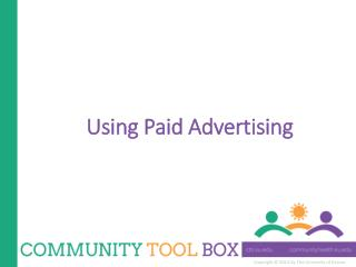 Using Paid Advertising