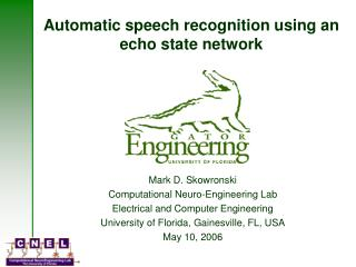 Automatic speech recognition using an echo state network