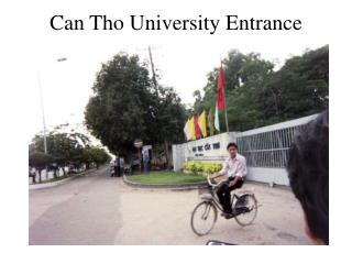 Can Tho University Entrance