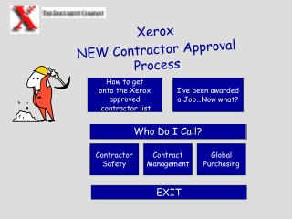 Xerox NEW Contractor Approval Process