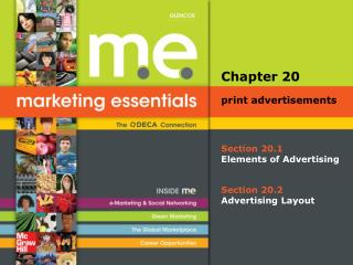 Section 20.1 Elements of Advertising