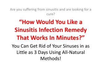 Sinus Natural Cure
