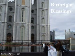 Birthright Blessings