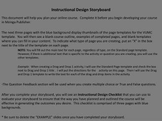 Instructional Design Storyboard