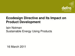 Ecodesign Directive and Its Impact on Product Development